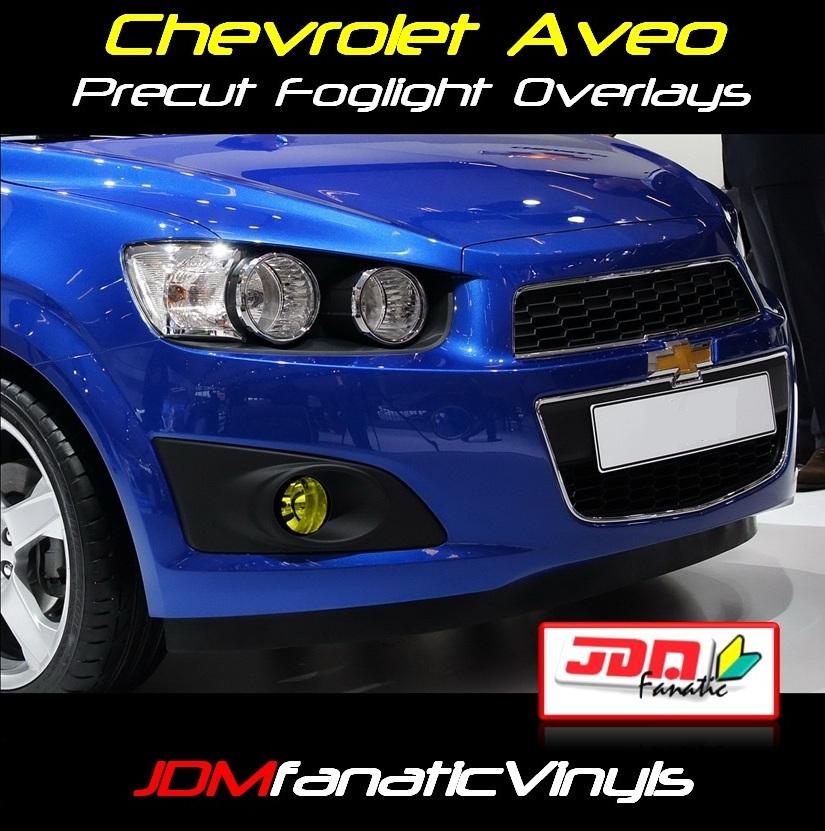 11 12 Chevrolet Aveo Precut Yellow Fog Light Overlays Tint